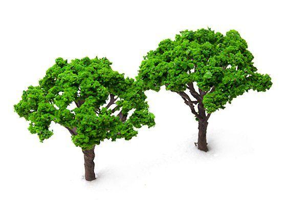 125623 - Modelo de Árvores em Escala Railway 100mm (2 pcs)