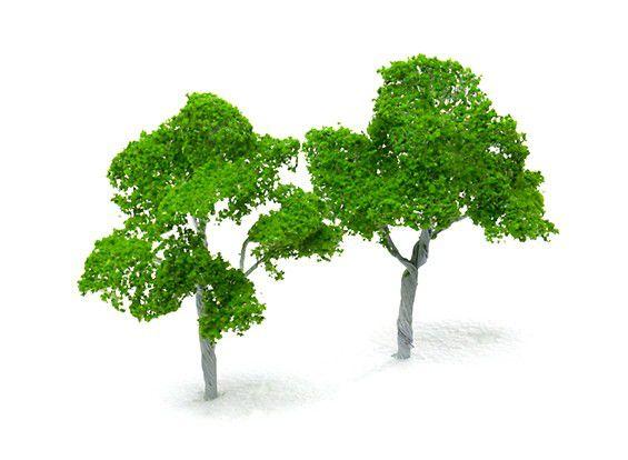 125665 - Modelo de Árvores em Escala Railway 100mm (2 pcs)
