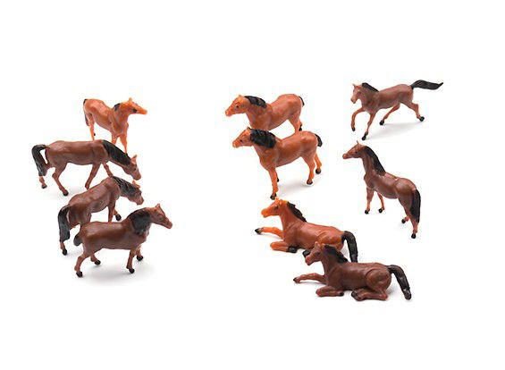 128114 - Cavalos Sortidos escala 1/87 (HO scale) (10pcs)