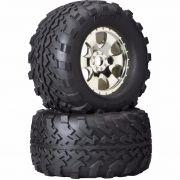 HPI4709 - Rodas com pneus GT2 S Warlock Wheel SAVAGE X4.6 HPI