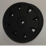 R-10 - Roda Diplomata Preto Fosco 1/10 escala (4und)
