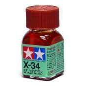 X-34 - Tinta Emanel Mini Metallic Brown Tamiya - 10ml