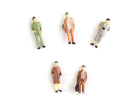 193251 - Figuras 1/87th HO Scale Assorted Citizen Miniature 5pcs