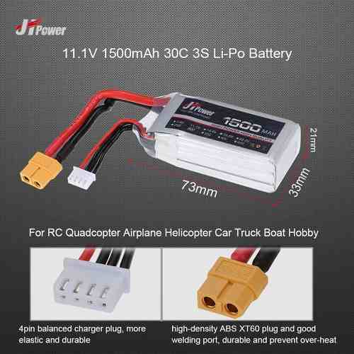JHP15001125 - Bateria Lipo 1500mah 11,1v 25c
