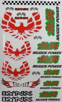 LHP-0705 - Cartela Mugen Power De Adesivo Decorativo