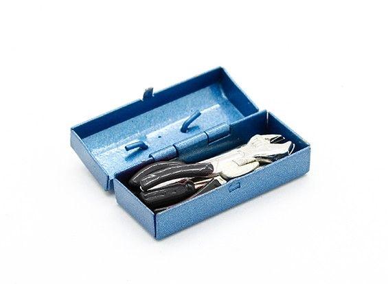 77657 - Caixa de Ferramenta Metálica 1/10 com Tools (Black Handles)