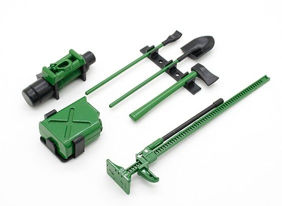 98283 - Acessórios Defender Set with Dummy Winch - Green 1/10