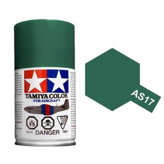 AS-17 - Tinta Spray Dark Green (IJA) Tamiya - 100ml