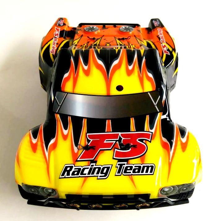 FS73901 - AUTOMODELO ELÉTRICO FS RACING SHORT COURSE 1/18 RTR 4WD 50 KM COMPLETO COM RÁDIO 2.4GHZ BATERIA E CARREGADOR