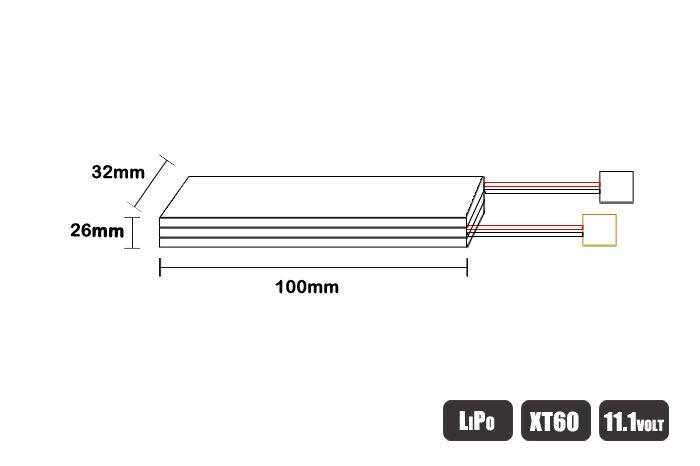 LB2200LP3 - Bateria LiPo - 11.1V - 3S - 2200mAh - 30C/60C - XT60