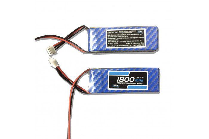 LBRX1800F - Bateria LiPo 1800mah 7.4V 15C - RX Receptor