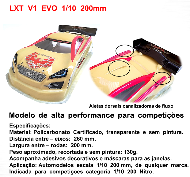 LHP-1029 - Bolha LXT V1 EVO 1/10 200mm