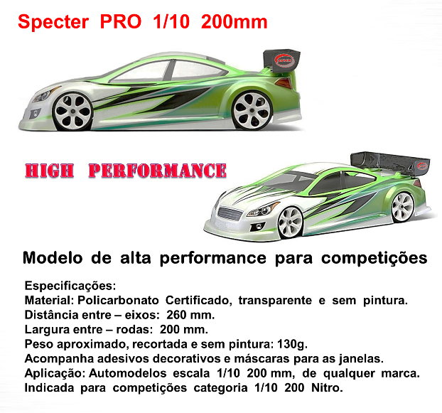 LHP-1031 - Bolha SpecterPro 1/10 200mm