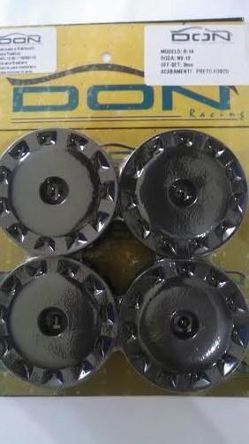 R-14 - Roda NV-12 Preto Fosco 1/10 escala (4und)