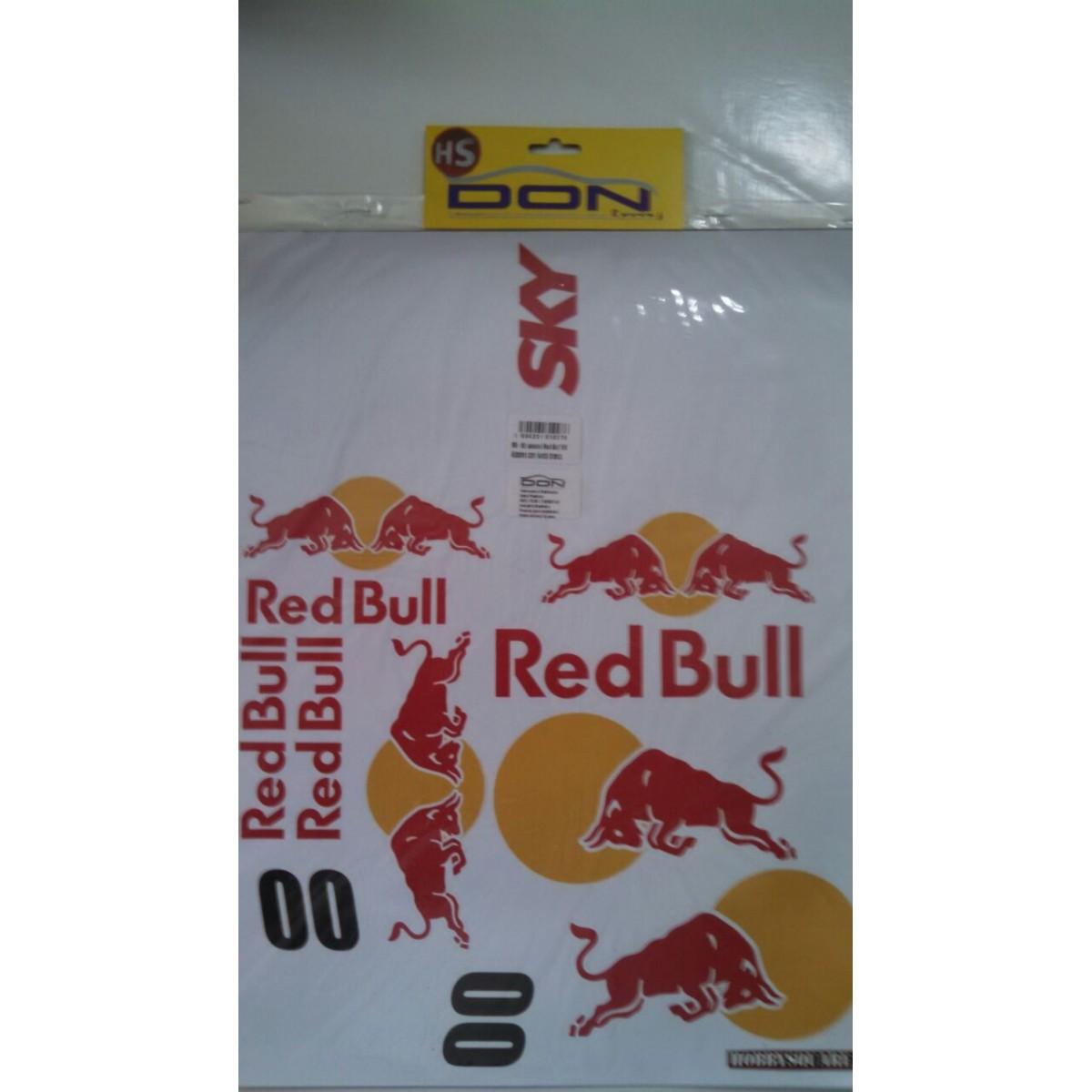RB - Kit Adesivo Red Bull 1/8 - 150x200mm