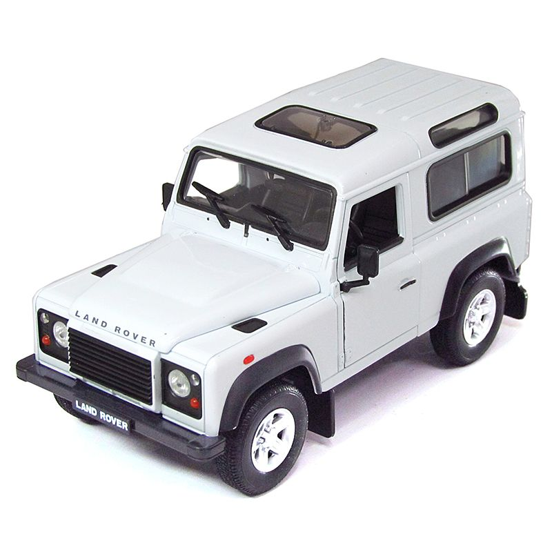 WEL22498W - Miniatura Land Rover Defender Branca 1/24