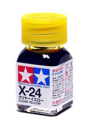 X-24 - Tinta Emanel Mini Clear Yellow Tamiya - 10ml