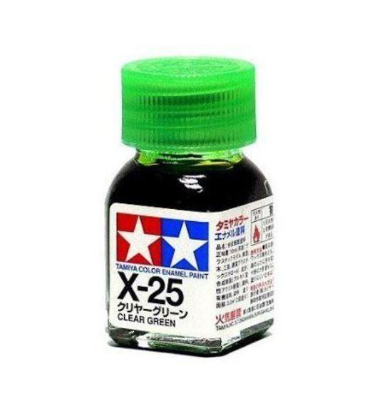 X-25 - Tinta Emanel Mini Clear Green  Tamiya - 10ml