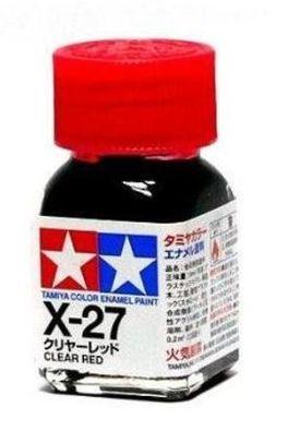 X-27 - Tinta Emanel Mini Clear Red Tamiya - 10ml