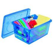 Mini Organizador c/ Alça 1,5L - 19,7 x 11,8 x 9cm - Azul - Kit c/ 10 unid.