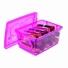 Caixa Organizadora c/ Trava Pink 650ml - 15,8 x 11 x 7 cm - Ordene - kit c/ 4 unid.