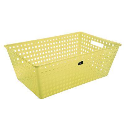 Cestão Amarelo 59,5 X 38,8 X 22,3 Cm Coza