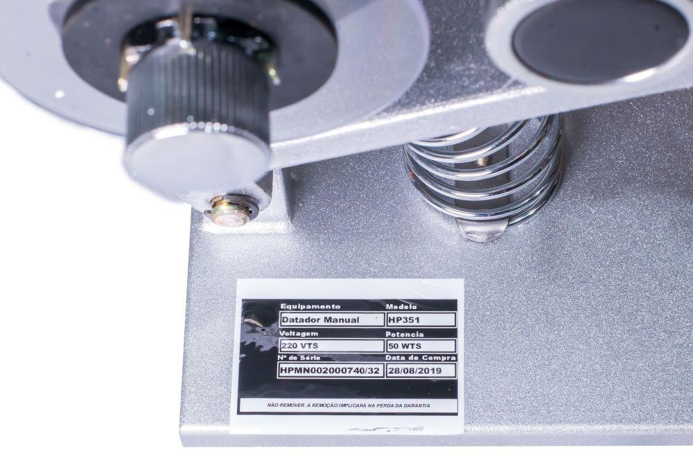 Datador Manual para Potes Tampas e Rotulos 220 v