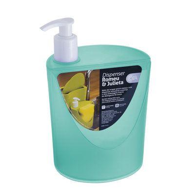 Dispenser Romeu E Julieta 600 Ml Verde 12 X 10,5 X 18 Cm Coza