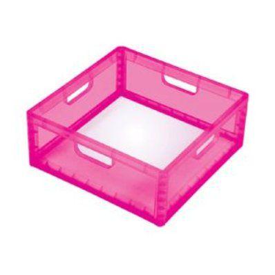 Engradado Quadrado Baixo Desmontável Rosa