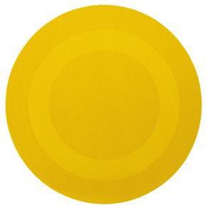 Lugar Americano Redondo Amarelo Sanremo - kit c/ 3 unid.