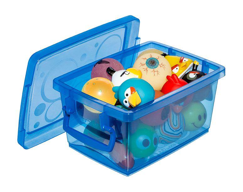 Mini Organizador c/ Alça 400 ml - 12,8 x 9 x 6 cm - Azul - Kit c/ 4 unid.