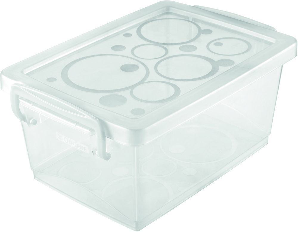 Mini Organizador c/ Alça 650ml - 15,8 x 11 x 7cm - Branca - kit c/ 4 unid.