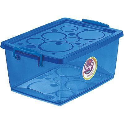 Organizador c/ Trava 4L - 26 x 19 x 12cm - Azul - Ordene