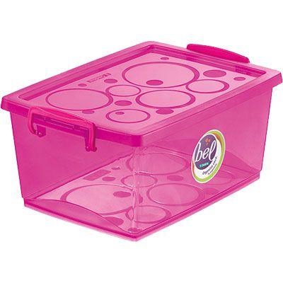 Organizador c/ Trava 60L - 63 x 41 x 30,5cm - Pink - Ordene