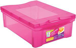 Organizador Médio Pink 13,5L - 30,5 x 42,5 x 14,4cm - Ordene