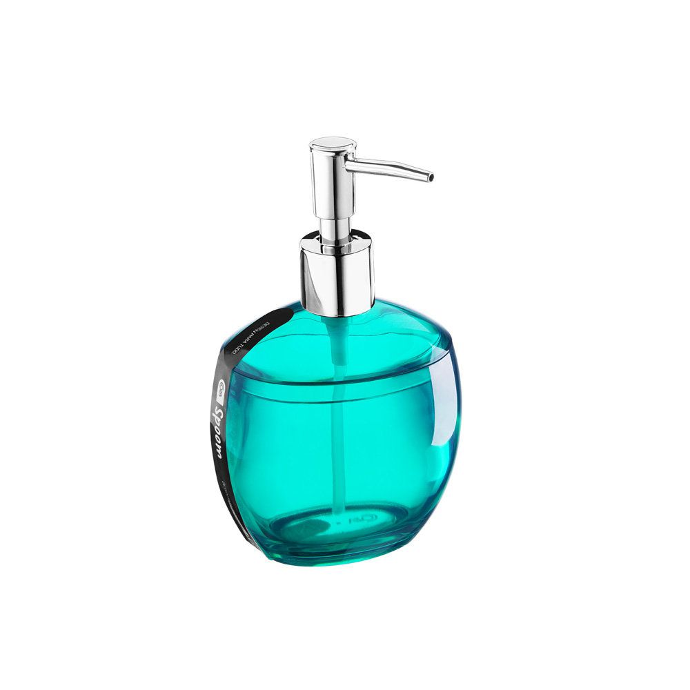Porta Sabonete Líquido Spoom 300 Ml Verde 10,6 X 8,5 X 17,2 Cm Coza