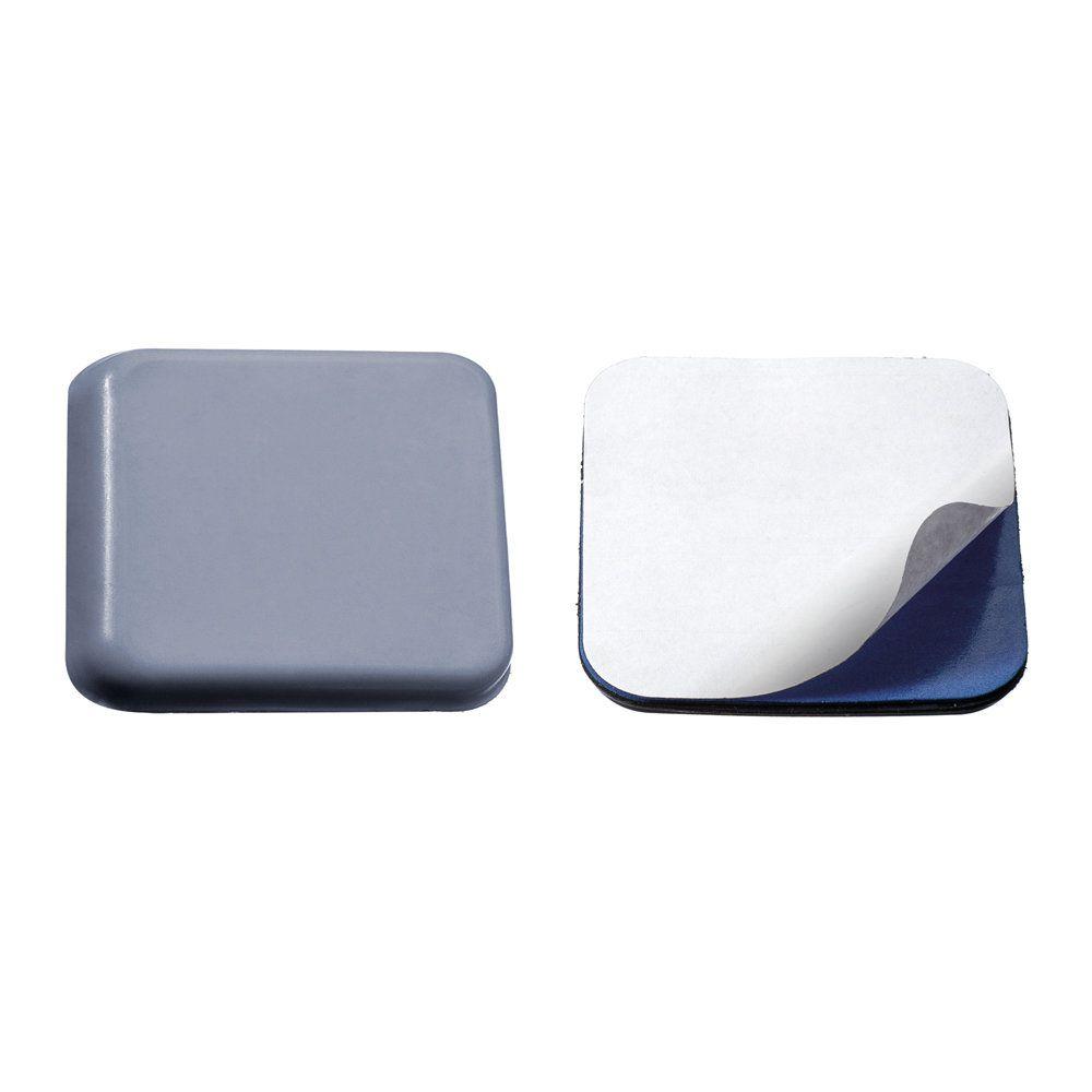 Protetor Adesivo Quadrado Teflon PTFE p/ Móveis 40mm x 40mm - c/ 2 unid. - Kit c/ 3 Pacotes