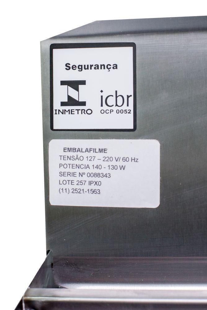 Seladora Embaladora para Bobinas em Película de PVC Manual 50cm INOX Isamaq