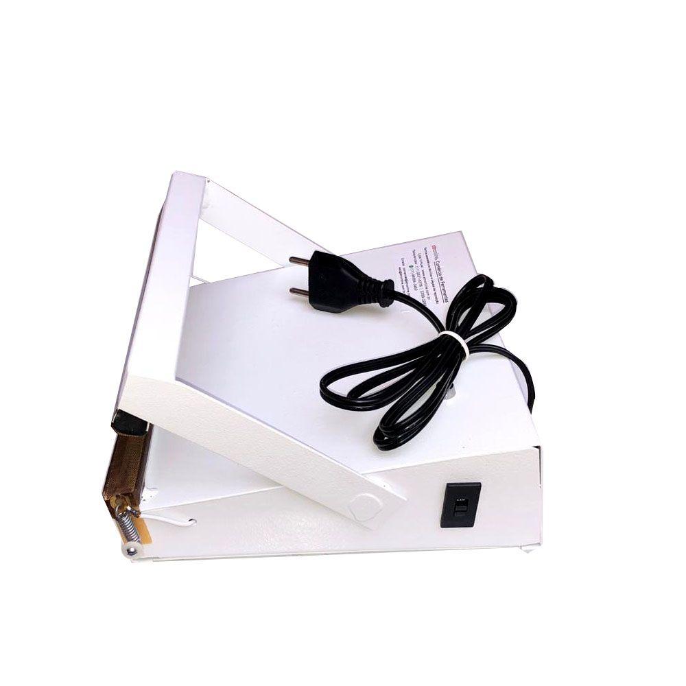Seladora Para Sacos Plásticos Manual 20cm Sela Corta