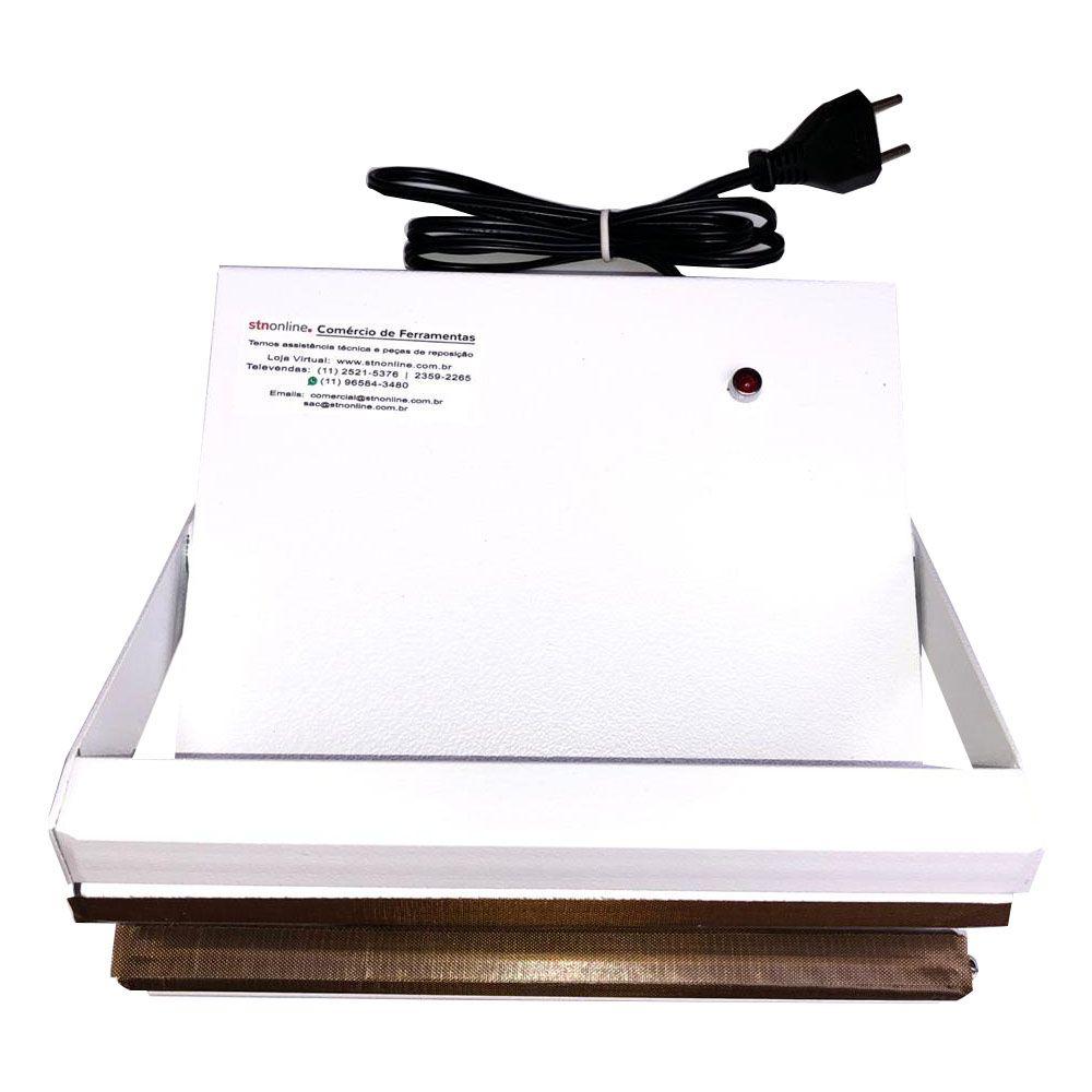 Seladora Para Sacos Plásticos Manual 20cm Sela e Corta