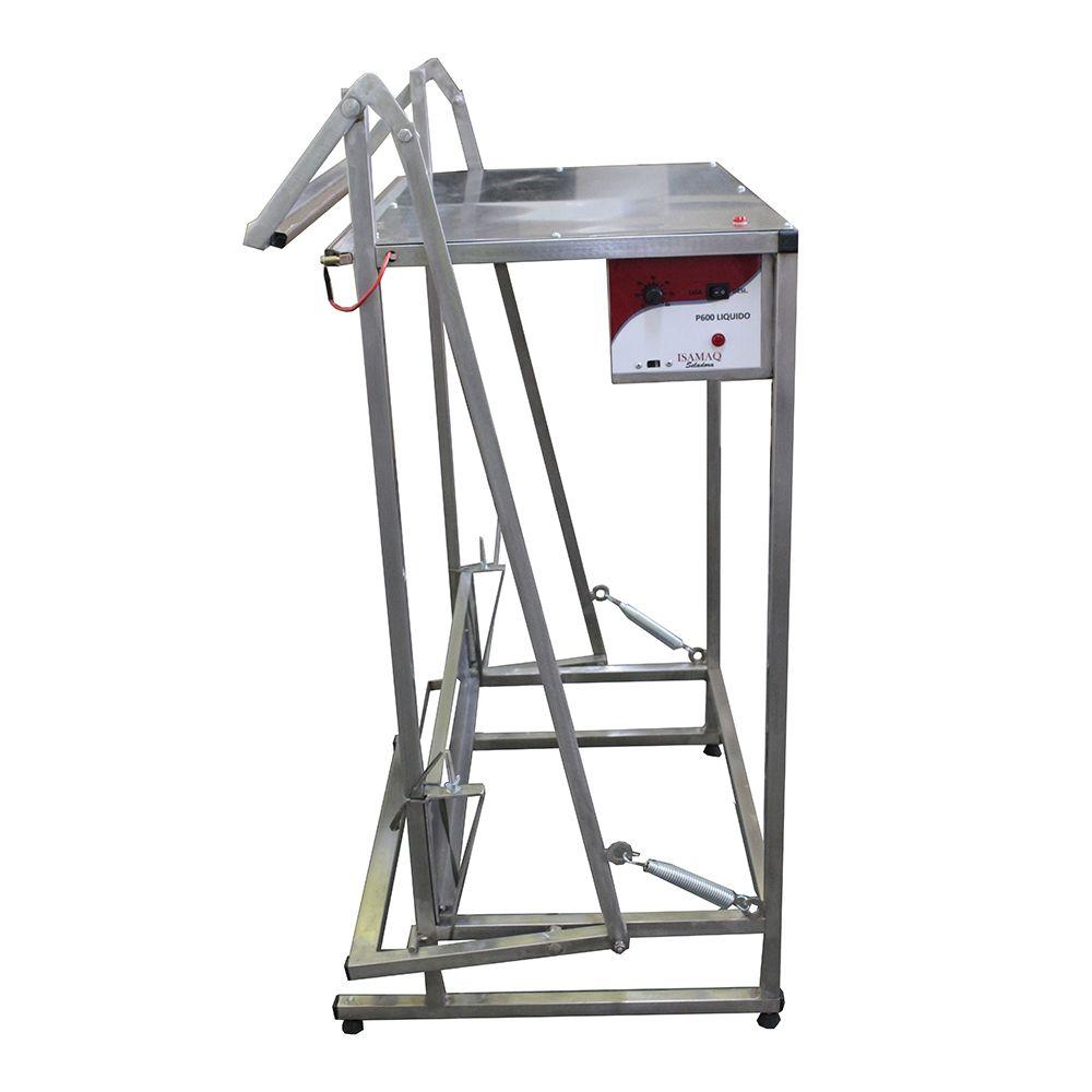 Seladora Pedal 30cm para Líquido INOX Bivolt