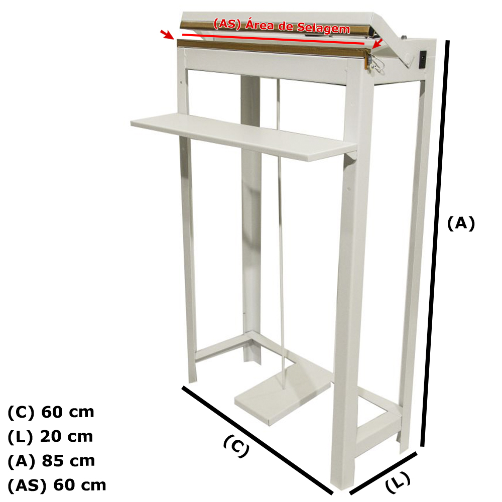 Seladora Pedal de Embalagens Plasticas 60cm Bivolt STN Online