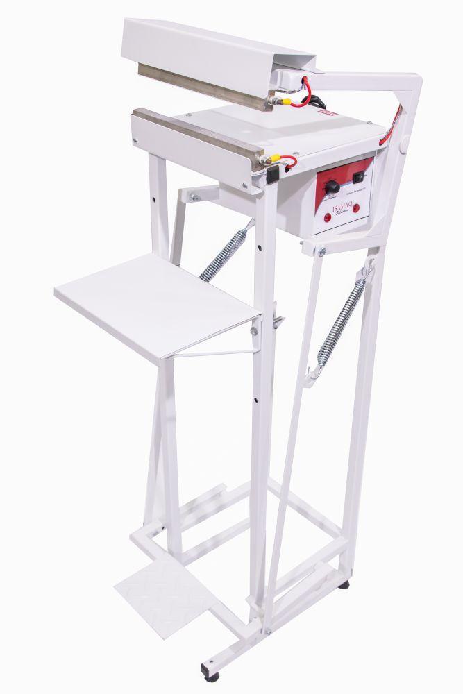 Seladora Pedal para Embalagem Aluminizada Salgadinho Picolé 30cm Recravada com 1 data Isamaq