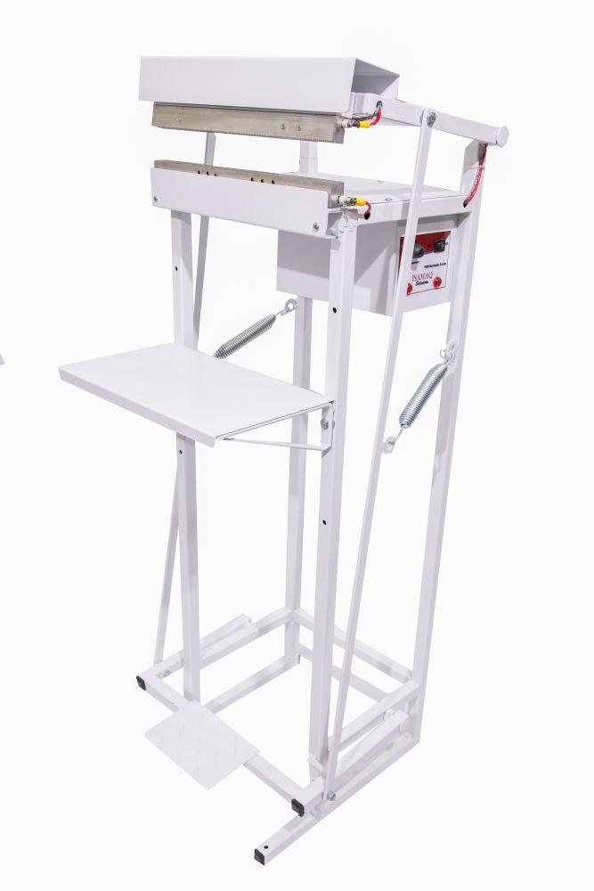 Seladora Pedal para Embalagem Aluminizada Salgadinho Picolé 30cm Recravada com 2 data Isamaq
