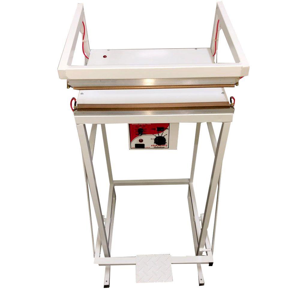 Seladora Pedal para Embalagens Aluminizadas Displays Toldos 40 cm Solda Dupla Isamaq