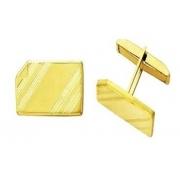 Abotoadura Clássica Clipe Retangular Plaqueta Ouro 18k mod1 K620