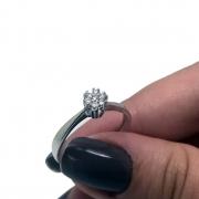 Anel Chuveiro 7 Diamantes Ouro Branco 18K Feminino 24323 K500