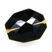 Anel Cristal BlacK Dryzum Em Ouro 18K 11942 K800