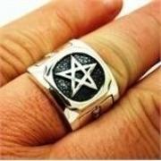 Anel Estrela Pentagrama Salomão Em Prata 19564