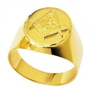 Anel Maçonaria Masculino Oval Ouro 18K 6,2G Original